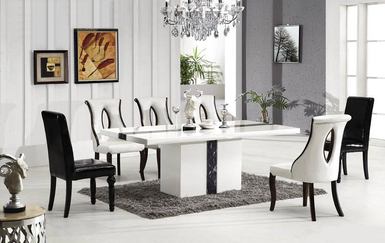 Asti Marble Dining Table With 8 Chairs