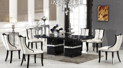Bianca marble dining table with 8 chairs marble king for 12 seater dining table sydney