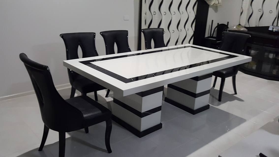 Latina Marble Dining Table With 8 Chairs Marble King