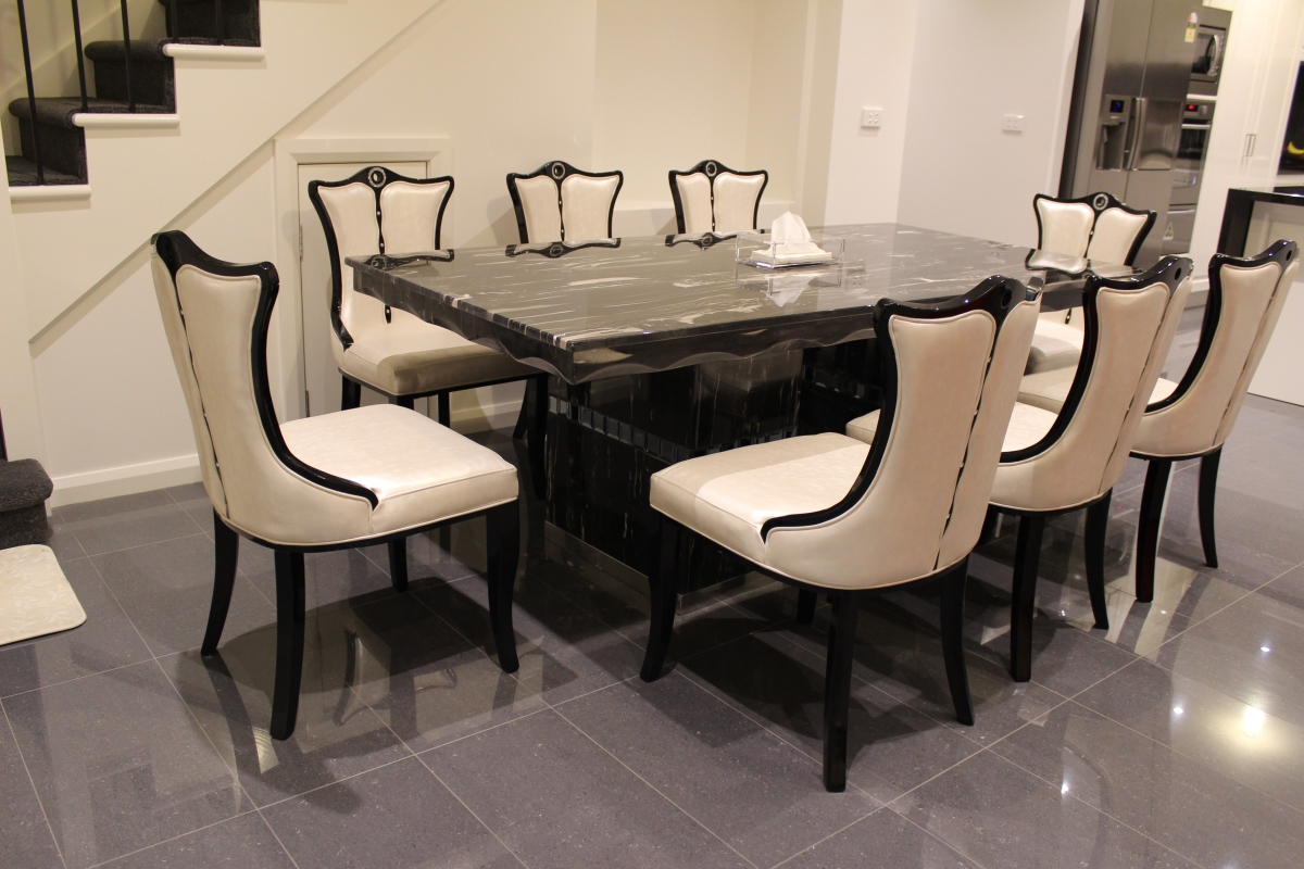 Arezzo Marble Dining Table With 8 Chairs Marble King