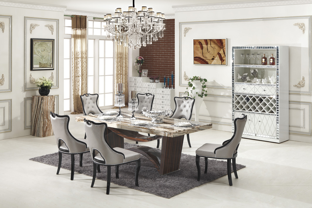 Carrara Marble Dining Table With 8 Chairs Marble King