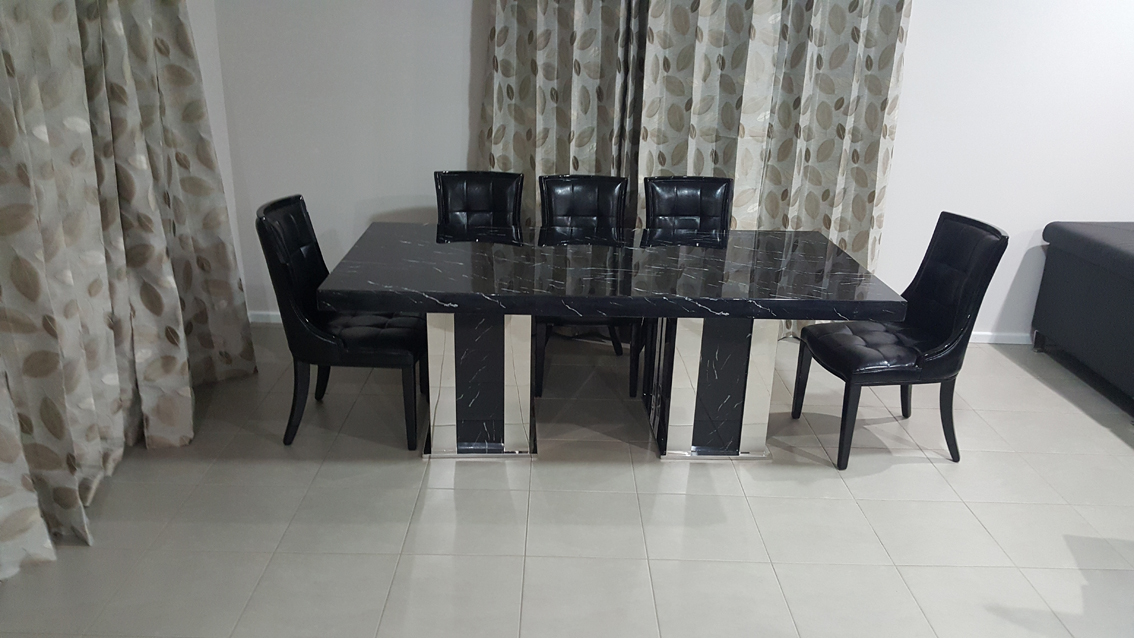 Cota Marble Dining Table With 8 Chairs Marble King