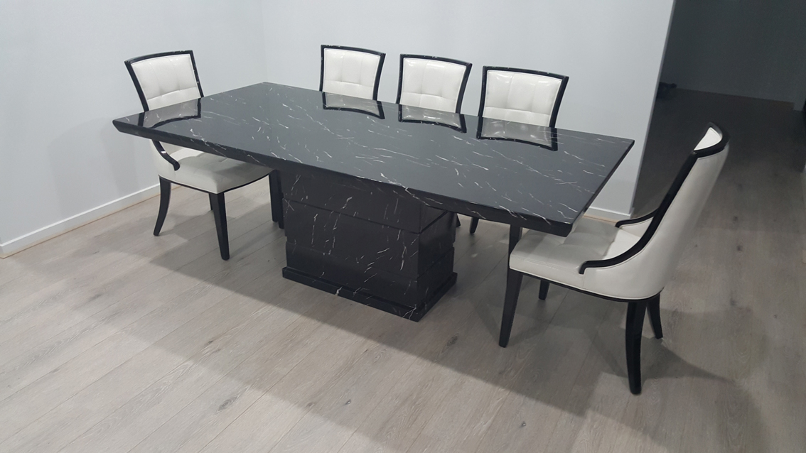 Canam Marble Dining Table With 8 Chairs Marble King